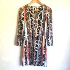 DVF Snakeskin Pattern Silk Dress 2